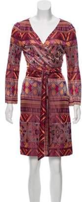 Diane von Furstenberg Mini Wrap Dress Orange Mini Wrap Dress