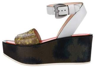 Kenzo Leather Platform Sandals