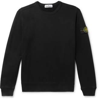 Stone Island Logo-Appliquéd Fleece-Back Cotton-Jersey Sweatshirt
