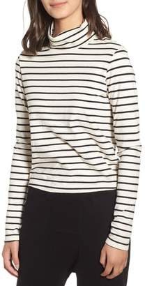 Stateside Stripe Mock Neck Sweater