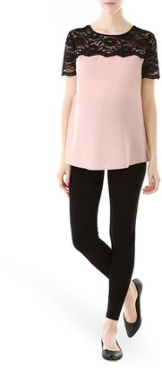 Women's Kimi And Kai Lace Yoke Maternity Blouse $68 thestylecure.com