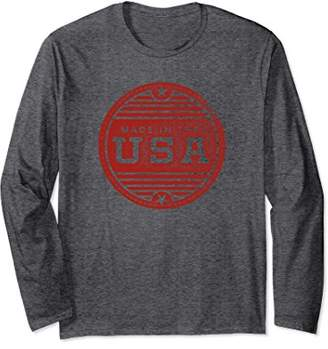 Distressed Made In The USA Long Sleeve Shirt