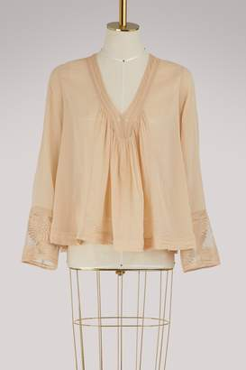 Forte Forte Lace-trimmed blouse