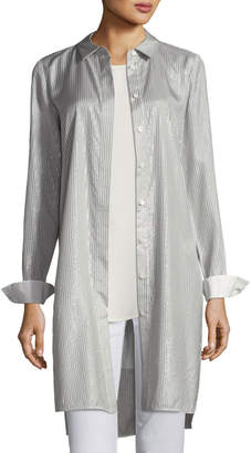 Lafayette 148 New York Olsen Serenity Stripe Duster Blouse