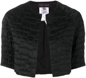 Talbot Runhof cropped textured jacket