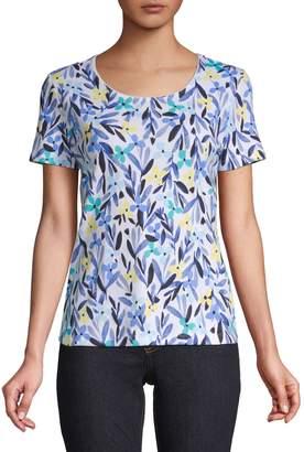 Karen Scott Petite Fields Floral Print T-Shirt