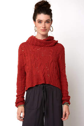 Free People Shades of Dawn Pointelle Pullover