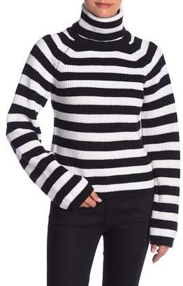 ENGLISH FACTORY Striped Turtleneck Sweater