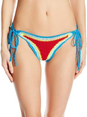Hobie Women's How Do You Hue Crochet Adjustable Hipster Bikini Bottom