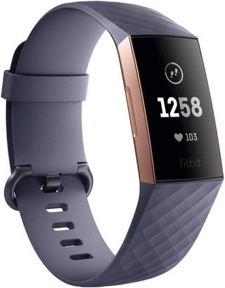 Fitbit Blue Grey & Rose Gold Charge 3 Advanced Fitness Tracker