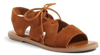 Toms Calips Lace-Up Suede Sandal