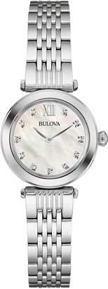 Bulova Women's Quartz Stainless Steel Dress Watch, Color: Silver-Toned (Model: 96P167)