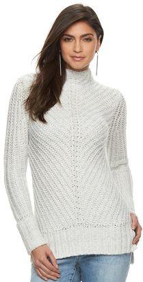 Women's Jennifer Lopez Metallic Mockneck Sweater $64 thestylecure.com
