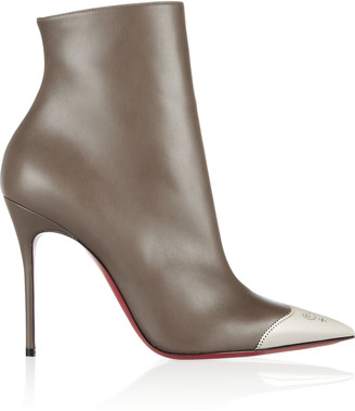 Christian Louboutin Calamijane 100 cap-toe leather ankle boots $1,345 thestylecure.com