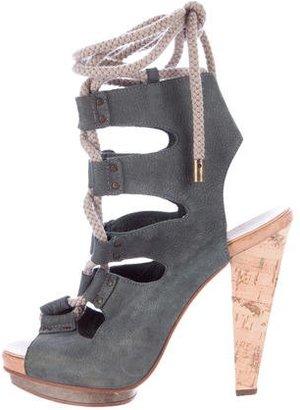 Derek Lam Lace-Up Platform Sandals $95 thestylecure.com