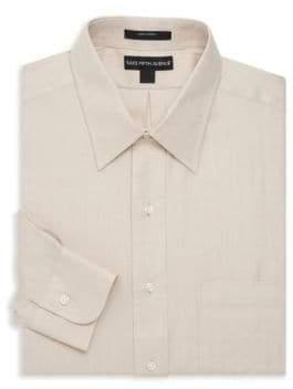 Saks Fifth Avenue Chevron Dress Shirt