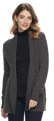 Croft & Barrow Women's Basketweave Cardigan Sweater