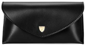 Aspinal of London Leather Sunglasses Case In Smooth Black Black Suede