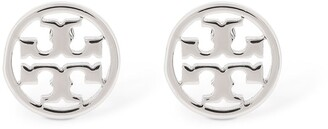 Tory Burch Logo Circle Stud Earrings