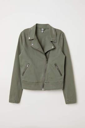 H&M Twill Biker Jacket - Khaki green - Women