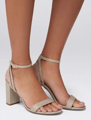 Forever New Natalia Mid Block Heeled Sandals - Glitter - 37