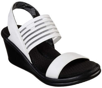 85fece2f3df5 Skechers White Wedge Women s Sandals - ShopStyle