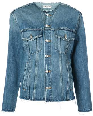 Derek Lam 10 Crosby Reiss Collarless Jean Jacket