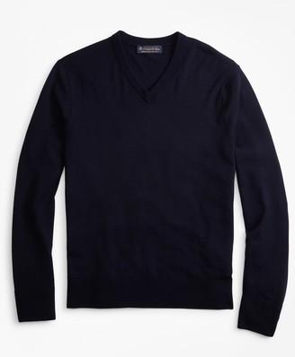 Brooks Brothers BrooksTech Merino Wool V-Neck Sweater