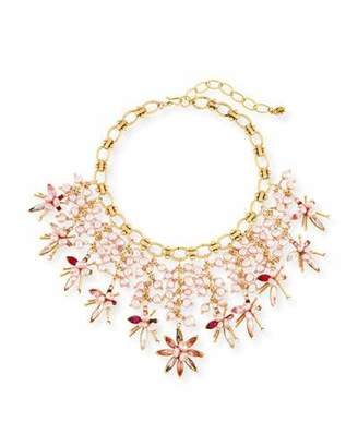 Sequin Pink Pearly Swarovski® Crystal Statement Necklace