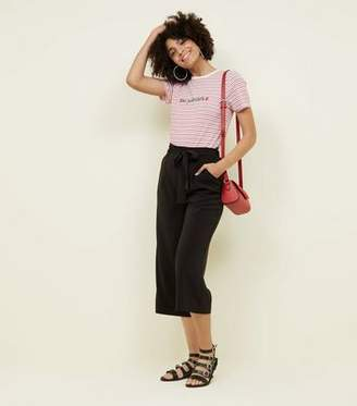 4ad80378ac0 New Look Womens Black High Waisted Trousers - ShopStyle UK