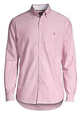 Polo Ralph Lauren Men's Checkered Cotton Button-Down Shirt