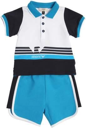Armani Junior Light Cotton Polo Shirt & Sweat Shorts