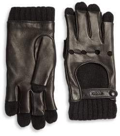 Gucci Leather& Cashmere Gloves