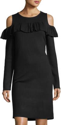 Catherine Malandrino Cold-Shoulder Sweaterdress