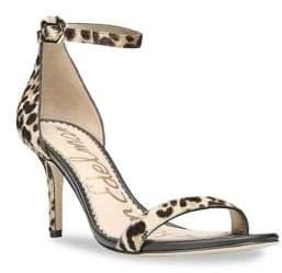 3ad4a4f42 Sam Edelman Patti Leopard-Print Cow Hair Ankle-Strap Sandals