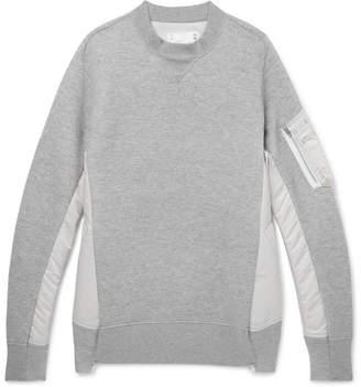 Sacai Oversized Nylon-Panelled Loopback Cotton-Blend Jersey Sweatshirt