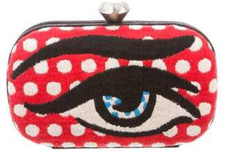 Sarah's Bag Embroidered Eye Clutch