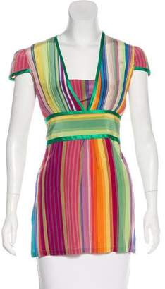 Etro Stripe Silk Top