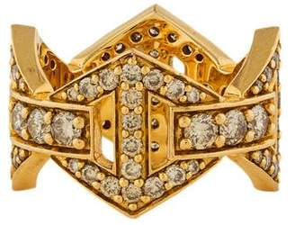 Walters Faith 18K Diamond Signature Hexagon Ring