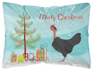 The Holiday Aisle Minnesota Naked Neck Chicken Christmas Indoor/Outdoor Throw Pillow The Holiday Aisle