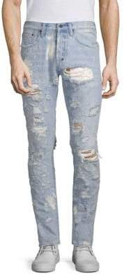 PRPS Distressed Light Wash Tapered Jeans