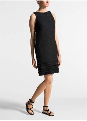 St. John Shimmering Textured Tweed Dress