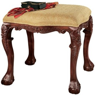 Toscano Design French Baroque Honey Upholstered Bench - Medium