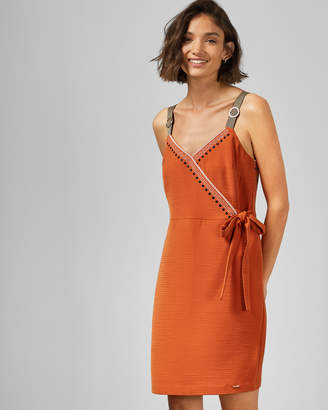 Ted Baker AELICIA Textured wrap dress