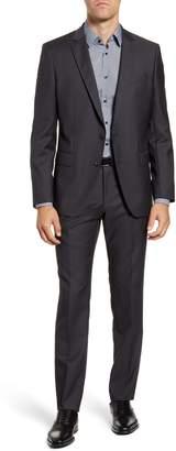 BOSS Huge/Genius Trim Fit Dot Wool Suit