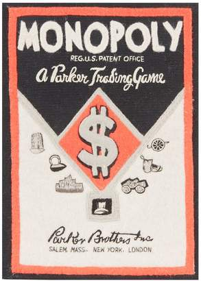Olympia Le-Tan Rectangle Monopoly Clutch Bag