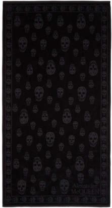 Alexander McQueen Black Skulls Towel