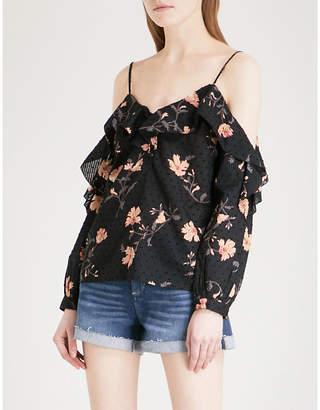 Paige Arabeth cold-shoulder cotton blouse