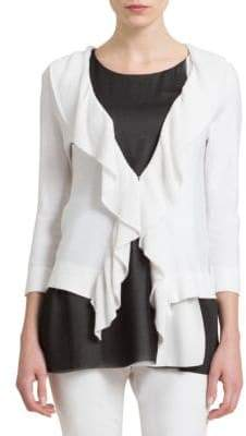 Donna Karan Waterfall Ruffle Cardigan