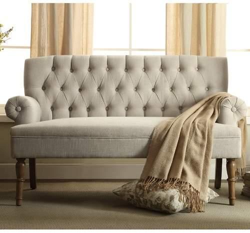 Charlton Home Barryknoll Tufted Upholstered Settee